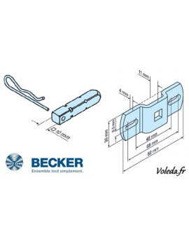 Becker - Support moteur Becker R - Carré de 10 - 49302000300 - Volet