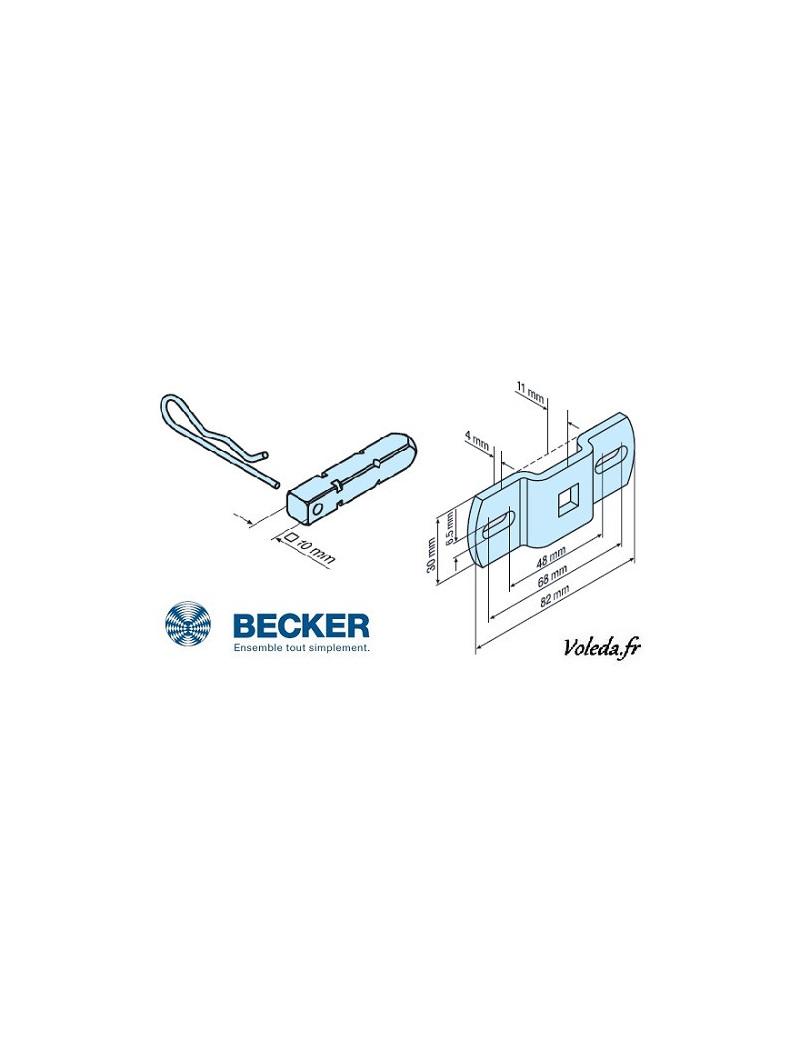 Support moteur Becker R - Carré de 10 - 49302000300 - Volet